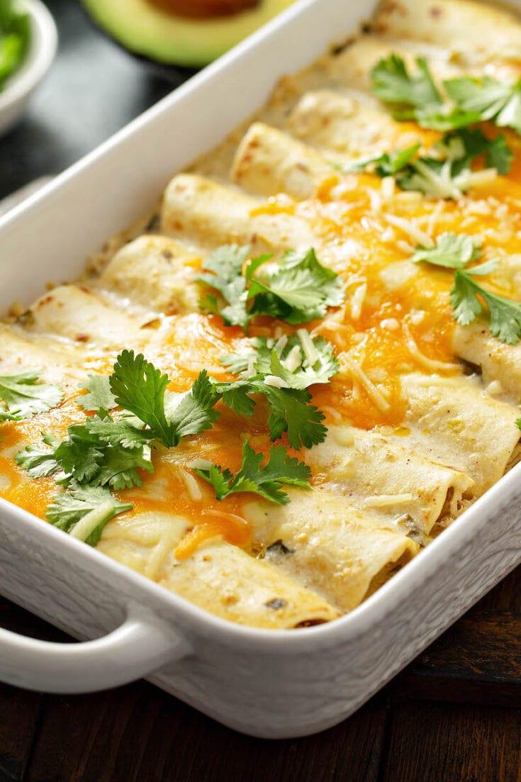 The Best Sour Cream Chicken Enchiladas Recipe The Novice Chef