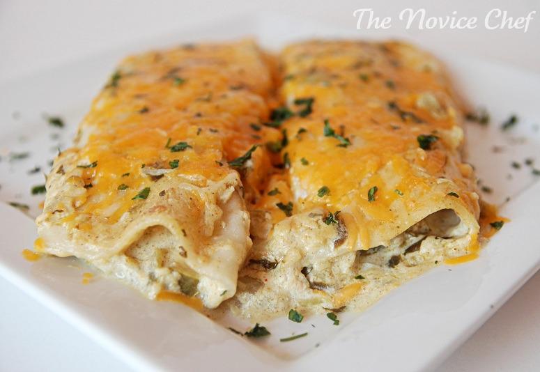 Salsa Verde Sour Cream Enchiladas – The Novice Chef