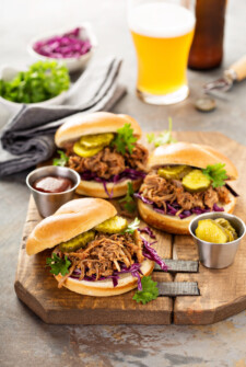 Slow Cooker Coca Cola Pulled Pork: my families favorite easy recipe made in a slow cooker or instant pot and only uses 5 ingredients! #slowcooker #crockpot #instantpot