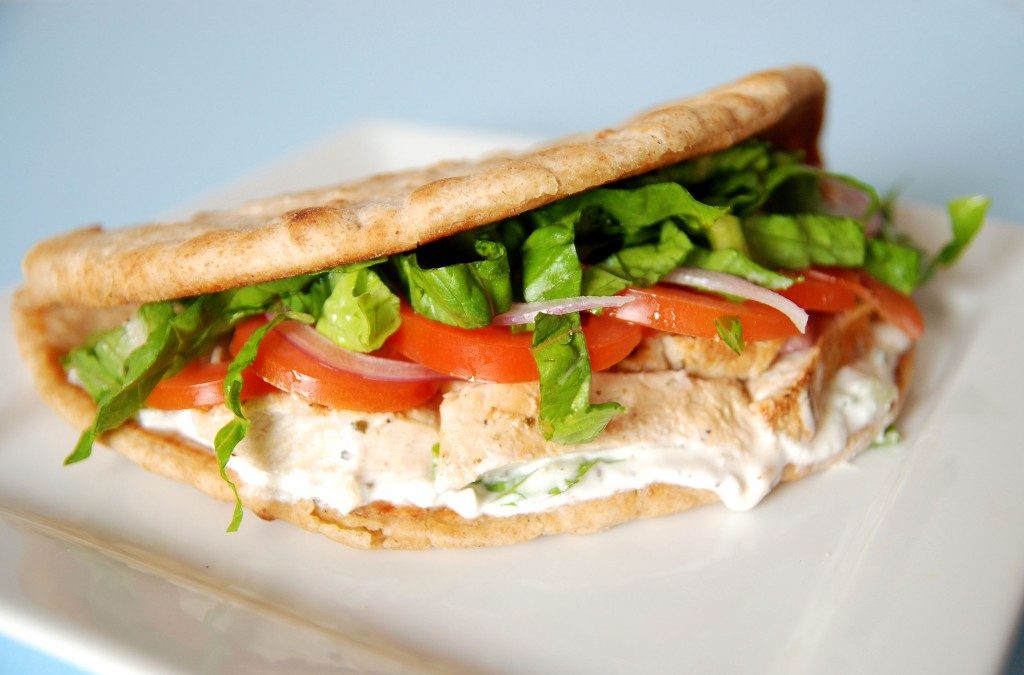 Chicken Souvlaki Gyros with Tzatziki – The Novice Chef