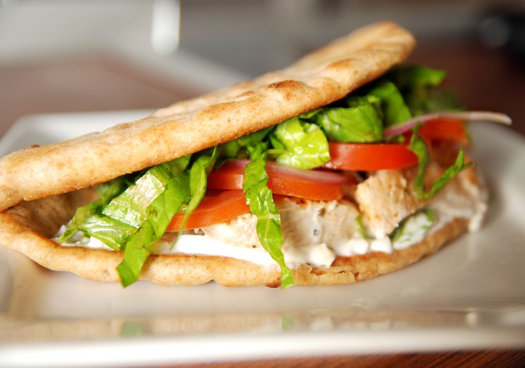 recipe: chicken souvlaki sandwich [5]
