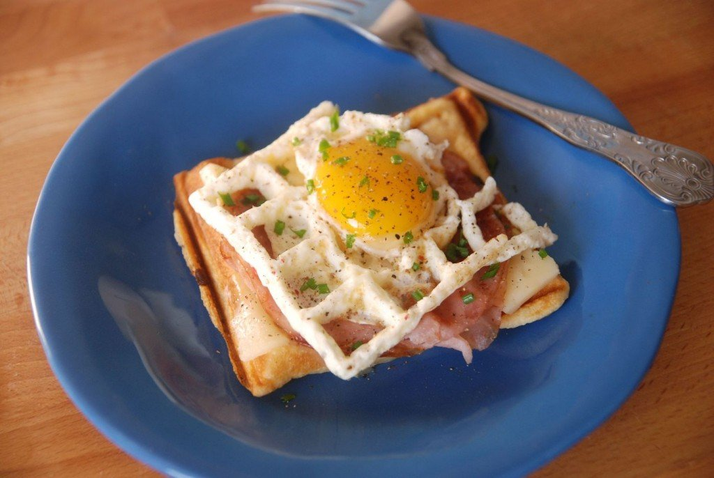 ... waffle iron. However, he did have a waffle cone iron. Cooking the egg