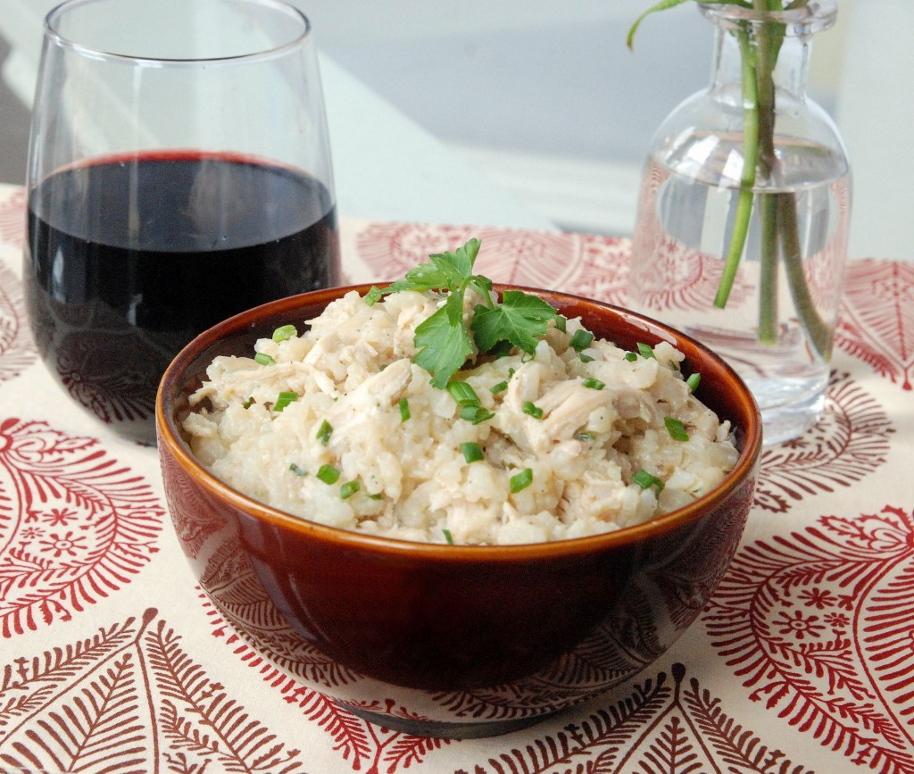 The Novice Chef » Herbed Risotto with Chicken and Caramelized Onions