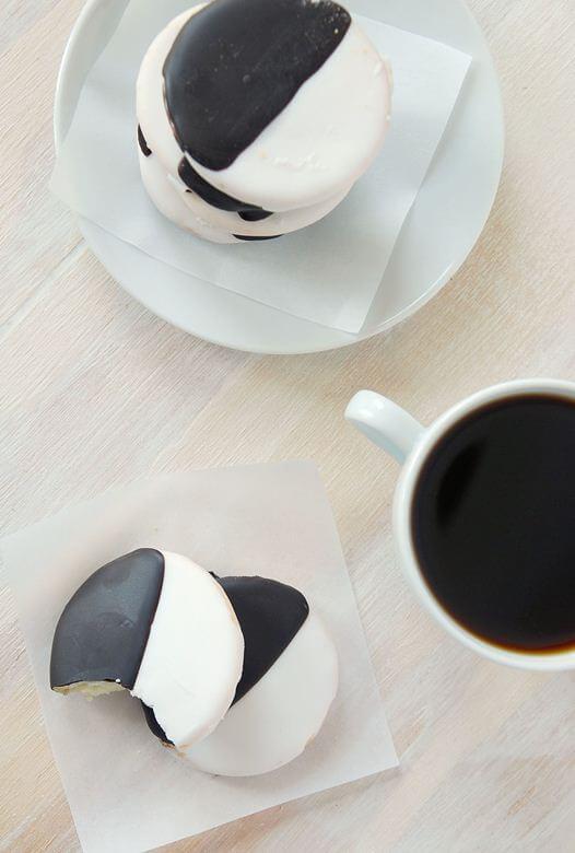 Homemade Black and White Cookies