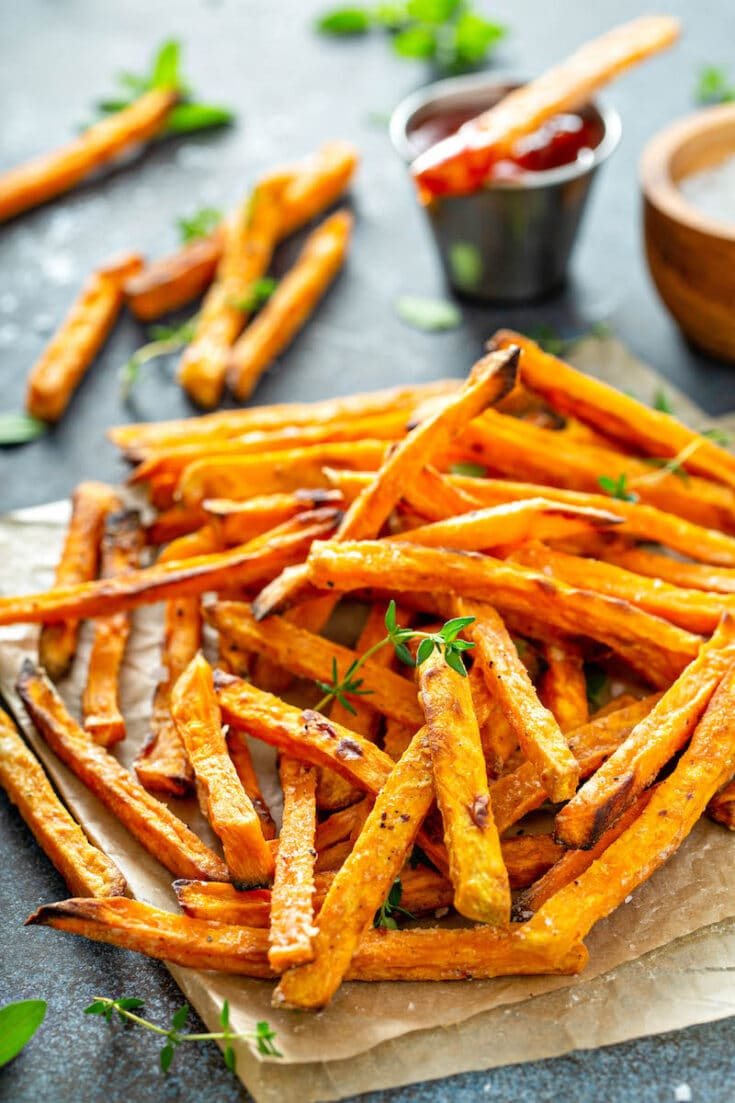 Crispy Baked Sweet Potato Fries Recipe Oven Or Air Fryer