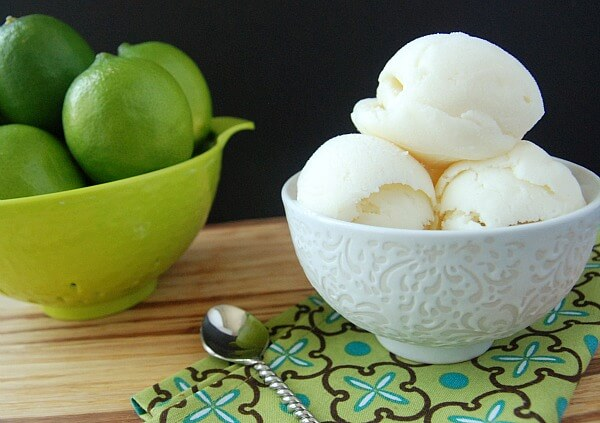 Homemade Key Lime Pie Frozen Yogurt