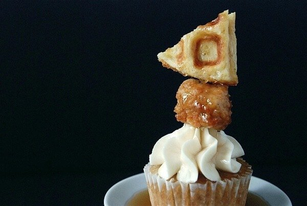 Chicken And Waffle Cupcakes The Novice Chef