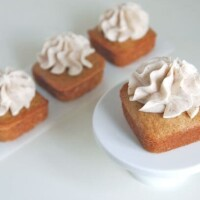 Group of Brown Butter Cushaw Mini Cakes with Brown Butter Buttercream