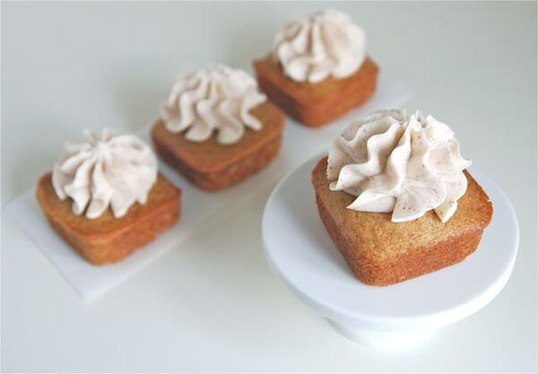 Brown Butter Cushaw Mini Cakes with Brown Butter Buttercream