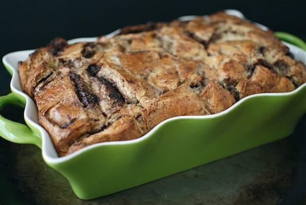 Nutella Croissant Bread Pudding Dessert