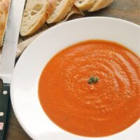 Easy Roasted Tomato Basil Soup Recipe