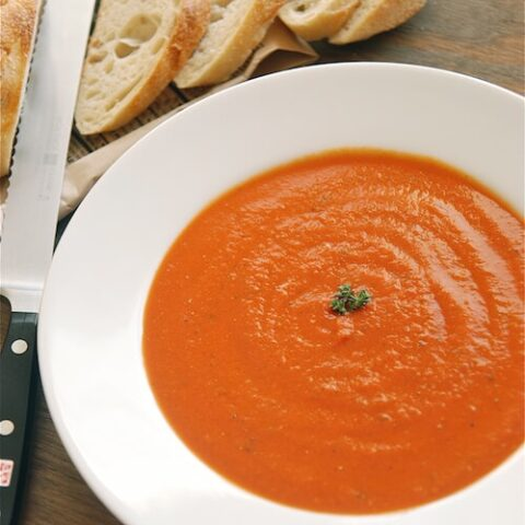 Easy Roasted Tomato Basil Soup Recipe