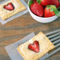breakfast, homemade, poptart, kid, kids, valentine's day, vday, v-day, valentines day, heart, strawberry, jam, preserves, nutella, chocolate, pie dough, pie crust, pie