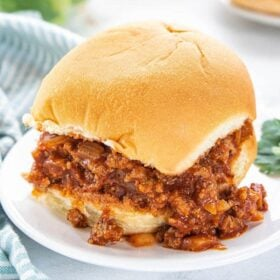 Close up image of sloppy joes