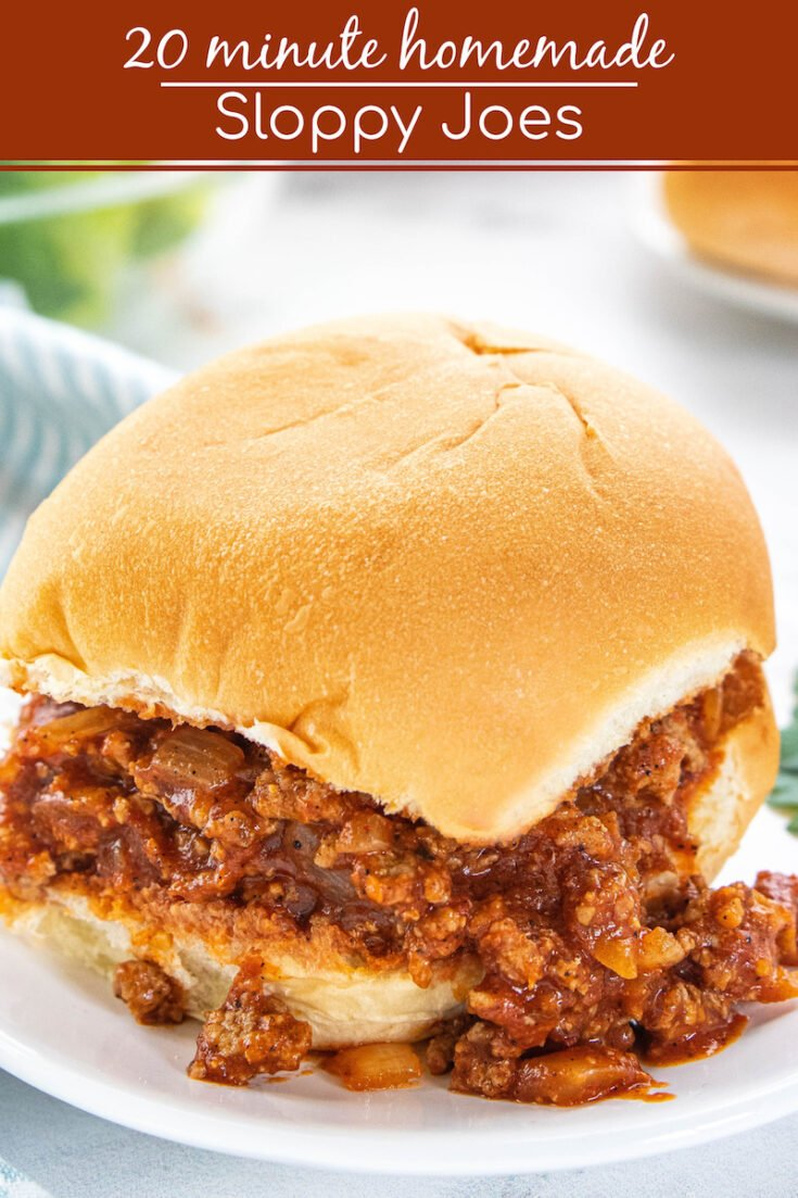 This Sloppy Joe recipe is classic comfort food that is ready in under 20 minutes! Your family will ask you to make these homemade Sloppy Joes again and again! #SloppyJoes #HomemadeSloppyJoes #SloppyJoeRecipe #ComfortFood #Turkey #SloppyJoesRecipe