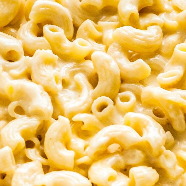 Close up of creamy Mac and Cheese