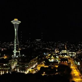 Image of seattle space needle at night
