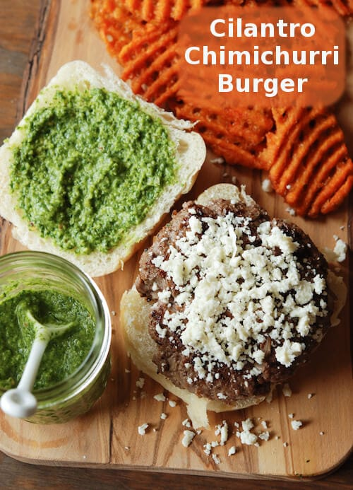Cilantro Chimichurri Burger Recipe
