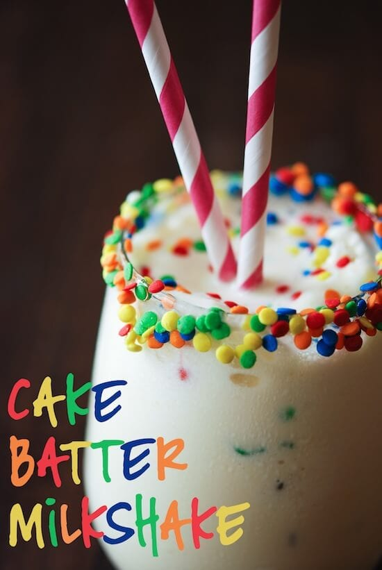 Cake Batter Milkshake Recipe