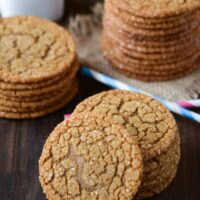 Stacks of Chewy Molasses Cookies
