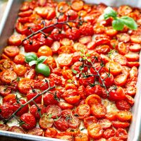 Garlic Roasted Cherry Tomatoes Recipe