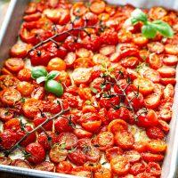 Garlic Roasted Cherry Tomatoes Recipe