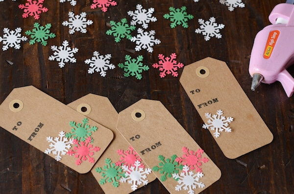 Diy Snowflake Gift Tags The Novice Chef