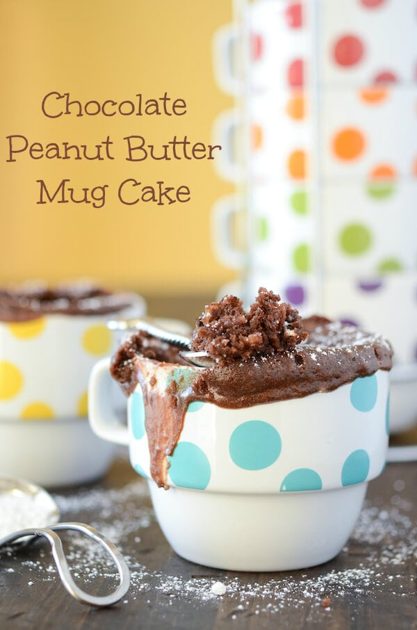 Chocolate Peanut Butter Mug Cake - I found the secret to the best mug cake, no egg!