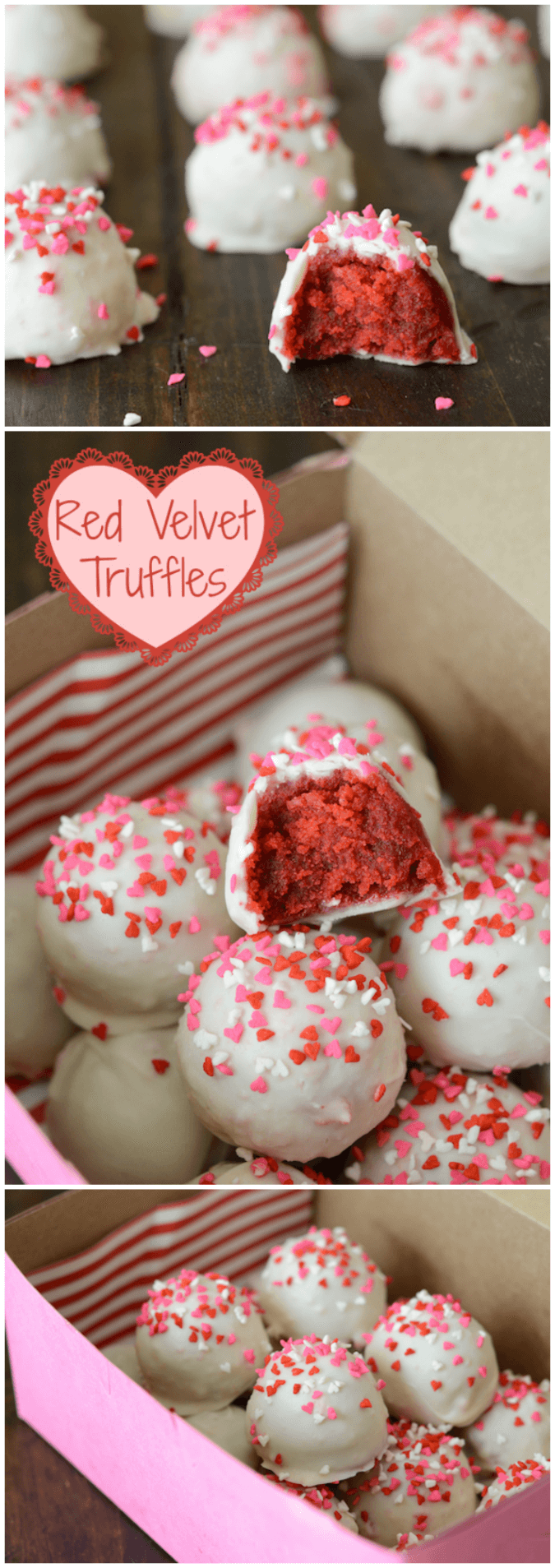 Red Velvet Truffles - fun to make with the kids and delicious!