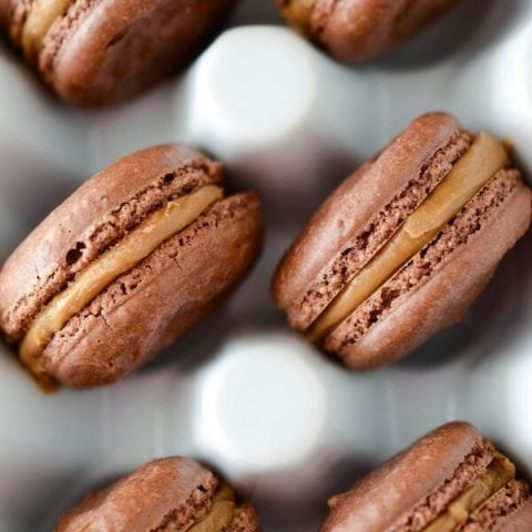 Chocolate Biscoff Macarons Recipe | How To Make Macarons