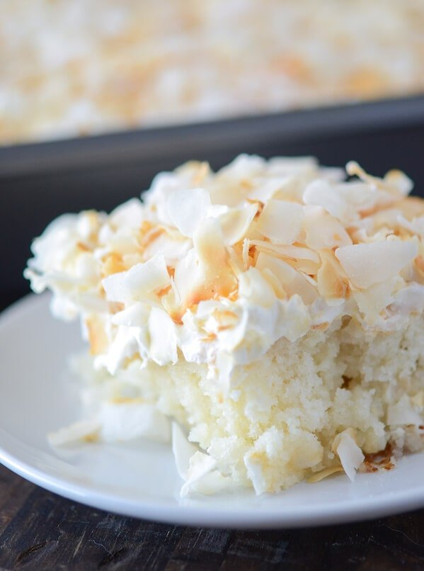 Coconut Sheet Cake from thenovicechefblog.com