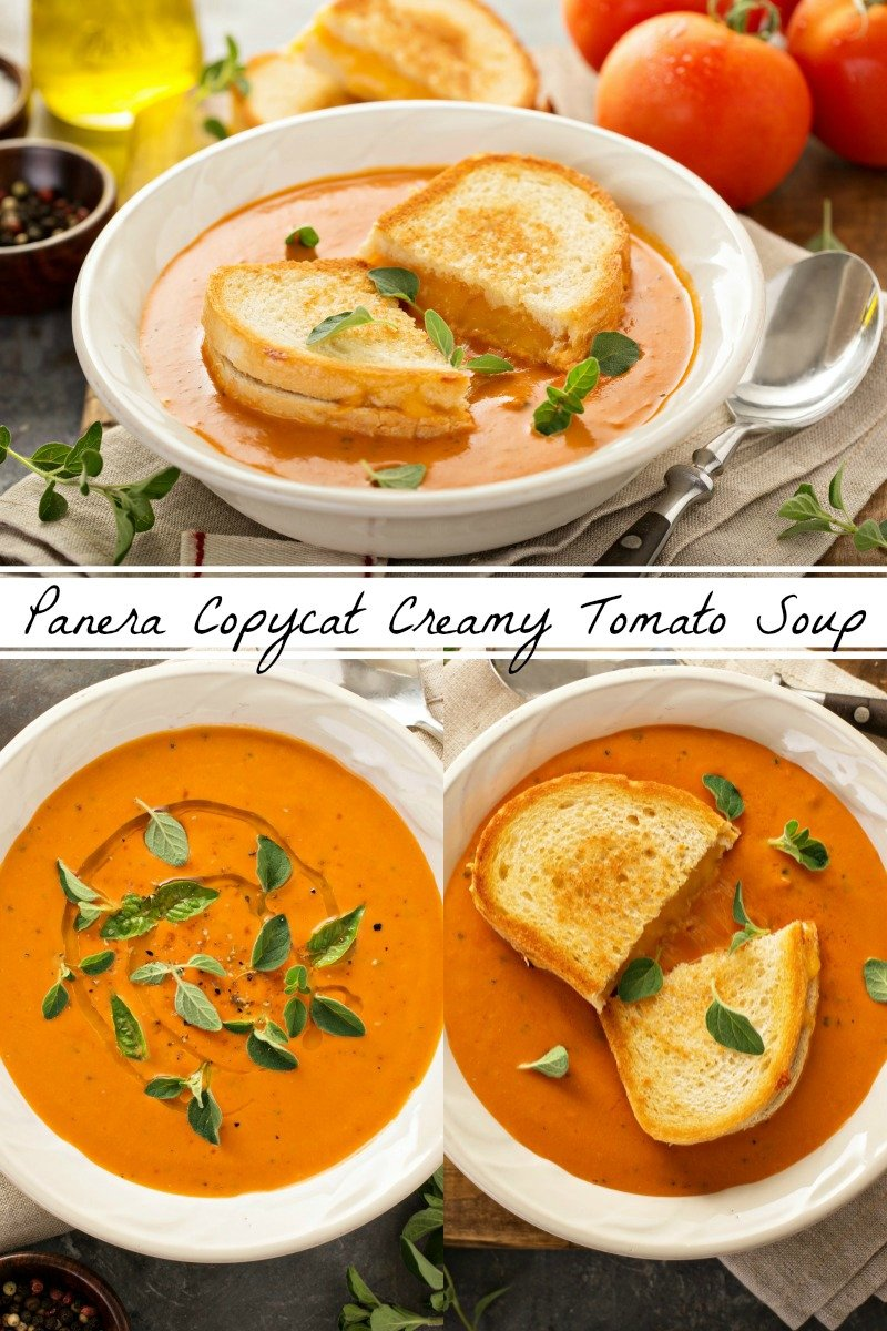 Panera Creamy Tomato Soup Copycat Recipe: this simple recipe is my families favorite creamy tomato soup when served with a big buttery grilled cheese sandwich!