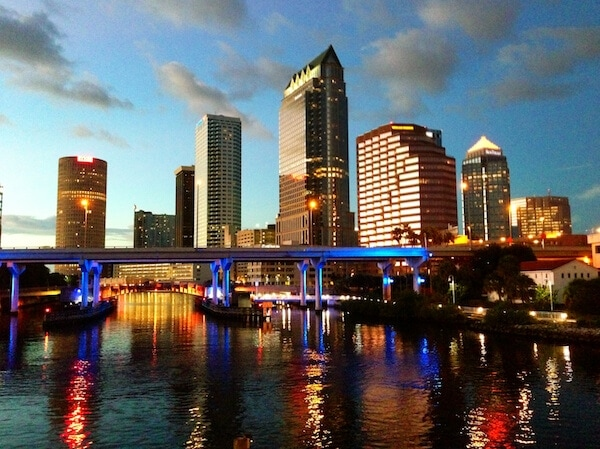 Tampa Skyline (photo taken via iphone) www.thenovicechefblog.com