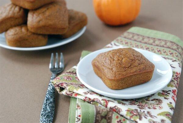 A Piece of Pumpkin Snack Cake on a Decorative Napkin