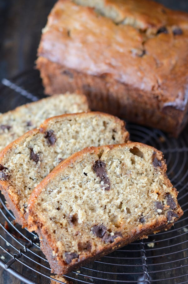 Peanut Butter Banana Chocolate Chip Bread Recipe