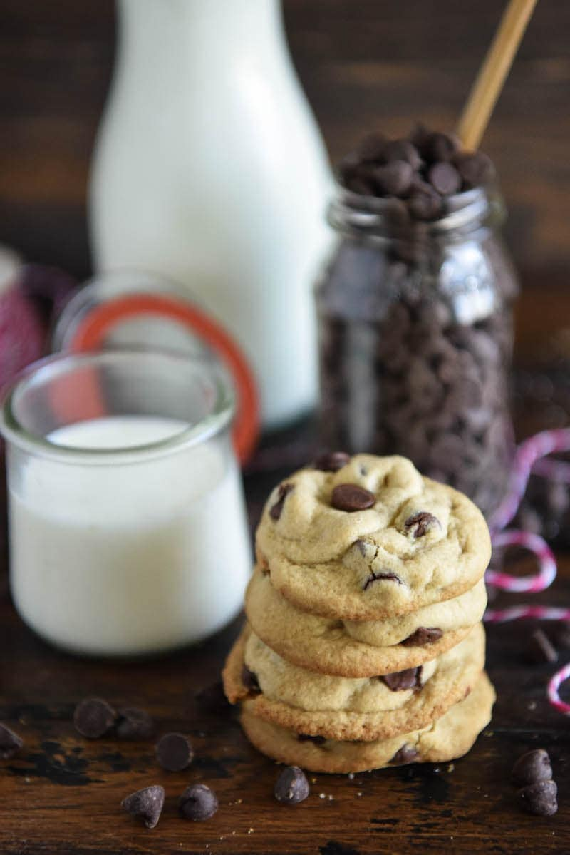 The Best Chocolate Chip Cookies: sharing my secret recipe for the best buttery chocolate chip cookies with thick, chewy centers and crispy cookie edges!