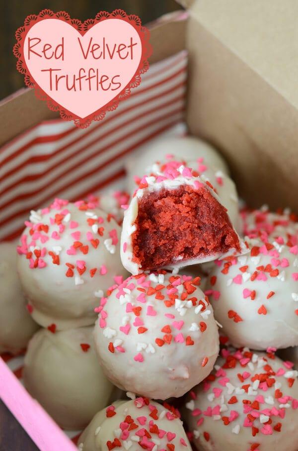 Red Velvet Truffles (via www.thenovicechefblog.com)