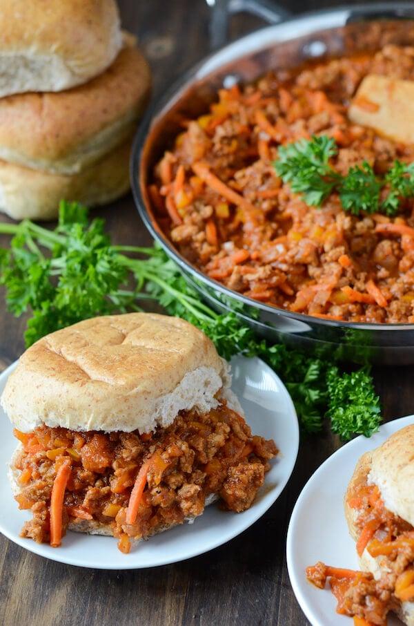 Lightened Up Turkey Sloppy Joes - recipe via www.thenovicechefblog.com