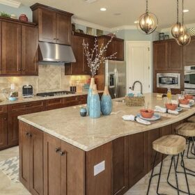 Kitchen in a new model home