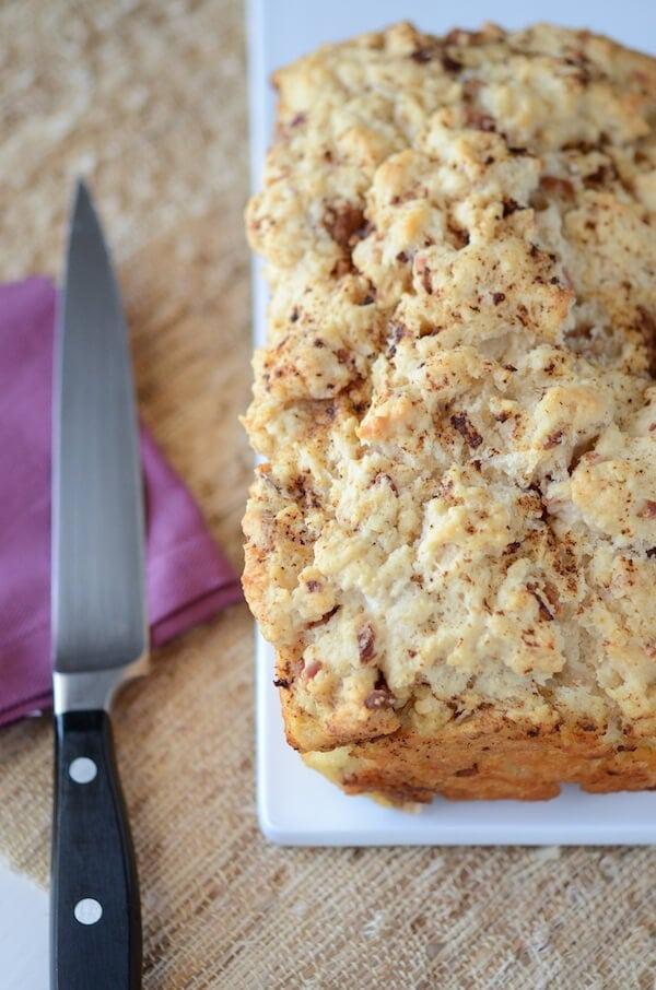 Bacon Beer Bread recipe via www.thenovicechefblog.com