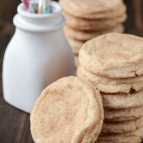 Stack of Classic Snickerdoodle Cookies