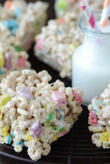 Platter of Lucky Charm Marshmallow Treats