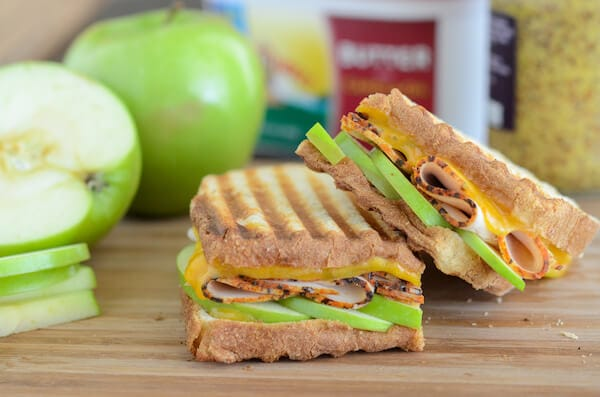 Apple, Cheddar, and Turkey Panini