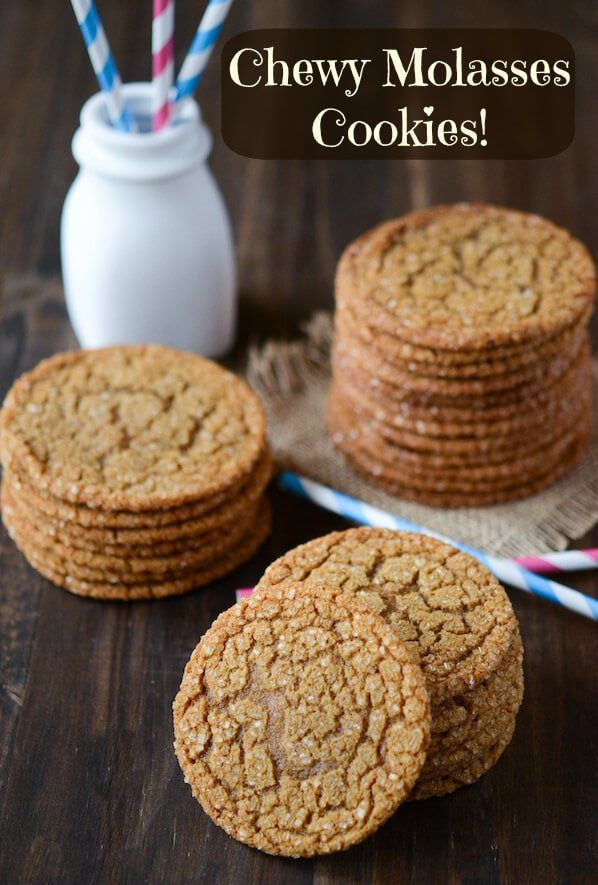 Chewy Molasses Cookies: Part of the Top 12 Cookies to make for a Cookie Exchange! Recipe on www.thenovicechefblog.com