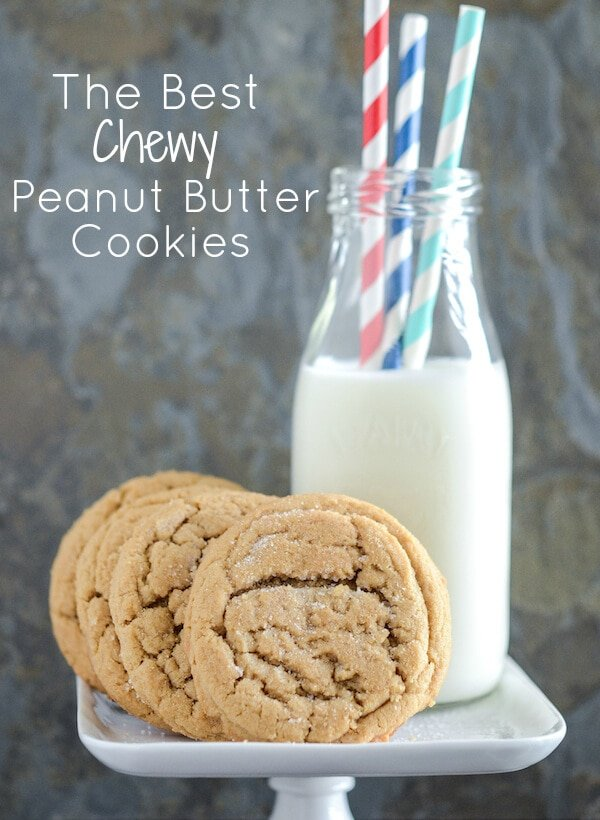 Chewy Peanut Butter Cookies: Part of the Top 12 Cookies to make for a Cookie Exchange! Recipe on www.thenovicechefblog.com