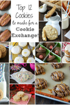 Photo collage of cookies for Christmas Cookie Exchange