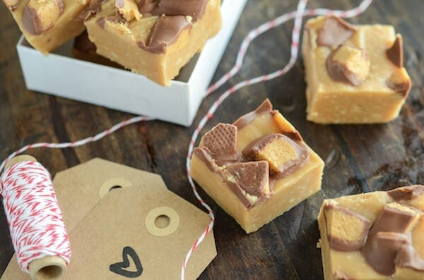 Microwave Reese's Peanut Butter Fudge! Couldn't be easier! Recipe via www.thenovicechefblog.com
