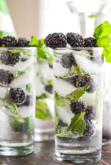 Sparkling Blackberry Mint Aguas Frescas