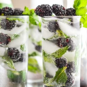 Sparkling Blackberry Mint Aguas Frescas
