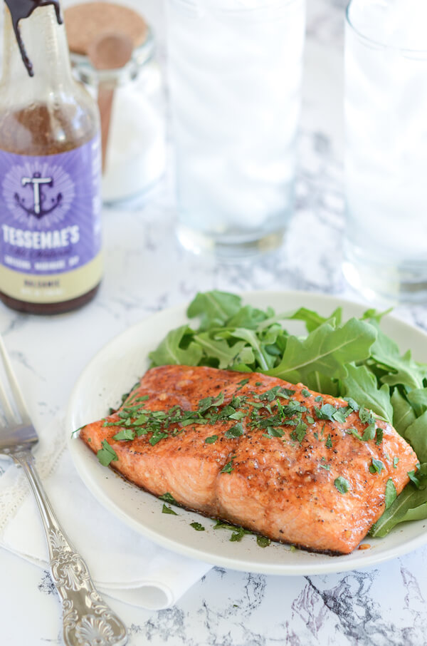 Balsamic Roasted Salmon - easy 30 minute dinner!